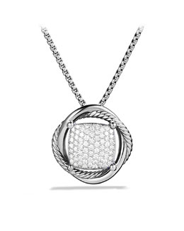 David Yurman 14mm Pave Diamond Infinity Necklace