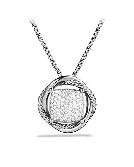 Infinity Medium Pendant with Diamonds on Chain