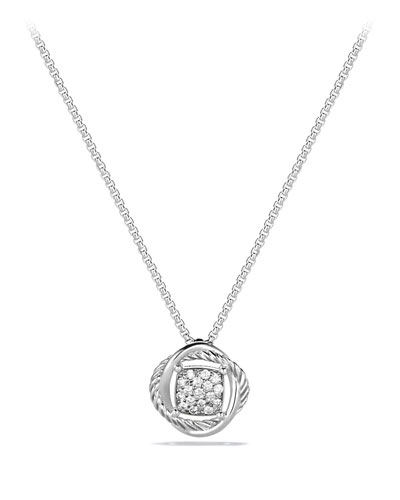 Infinity Pendant with Diamonds on Chain