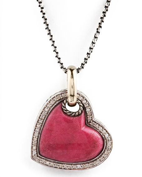 Rhodonite Cable Heart Necklace