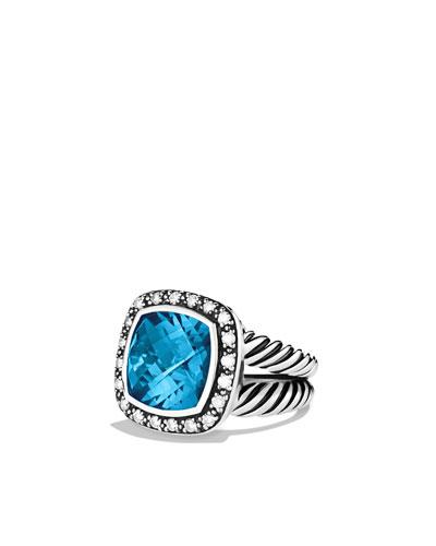 David Yurman 11mm Hampton Blue Topaz Moonlight Ice Ring