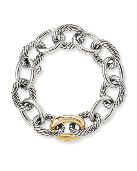 Image 3 of 4: David Yurman Oval Extra-Large Link Bracelet with Gold