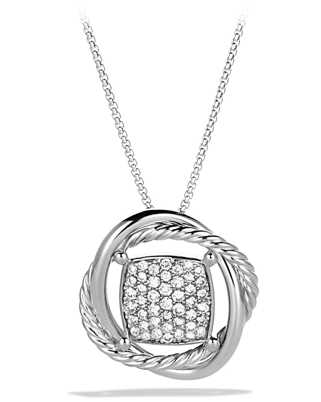 11mm Pave Diamond Infinity Necklace