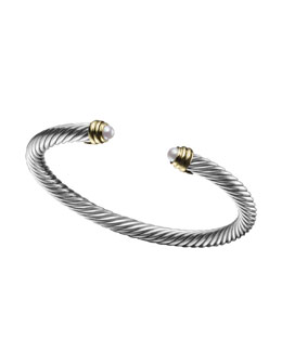 David Yurman 5mm Pearl Cable Classics Bracelet, Small