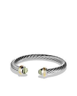 David Yurman Cable Classics Bracelet with Prasiolite and Gold