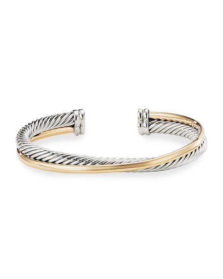 Image 3 of 4: David Yurman Crossover Cuff with Gold
