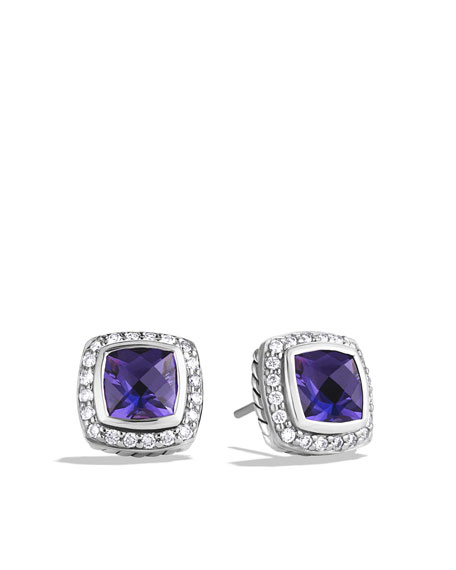 David Yurman Petite Albion Earrings with Amethyst and