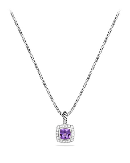 David Yurman Petite Albion Pendant with Amethyst and