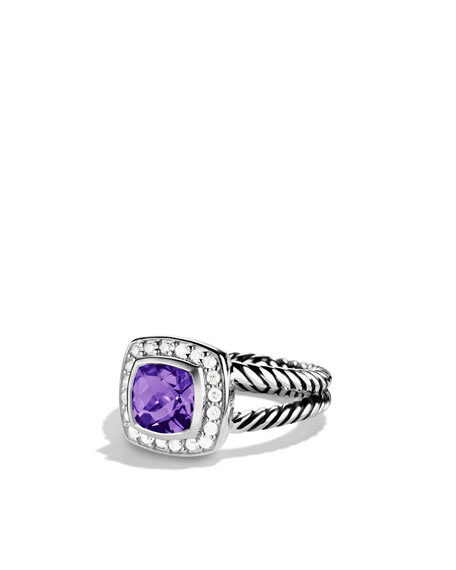 David Yurman Petite Albion Ring with Amethyst and