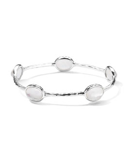 Ippolita Five-Stone Bangle in Clear Quartz