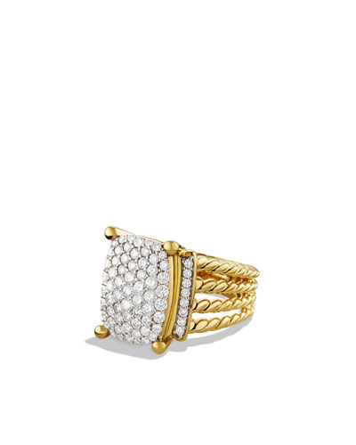 David Yurman Wheaton Ring with Diamonds in Gold