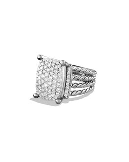 David Yurman Wheaton Ring, Diamonds, 16x12mm