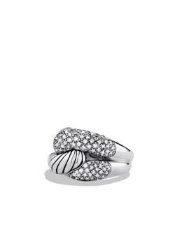 David Yurman Pave Diamond Infinity Ring