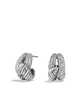 David Yurman Infinity Knot Earrings with Diamonds