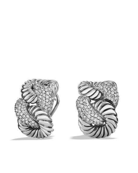 X Collection Large Earrings with Diamonds