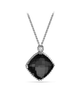 David Yurman Cushion on Point Pendant with Black Onyx on Chain