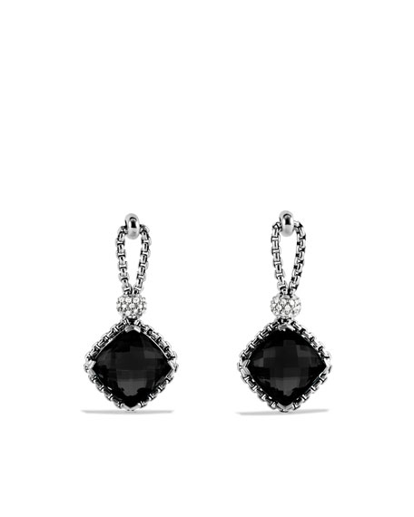 Cushion on Point Earrings with Black Onyx and Diamonds