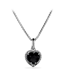 David Yurman Cable Heart Pendant with Black Onyx