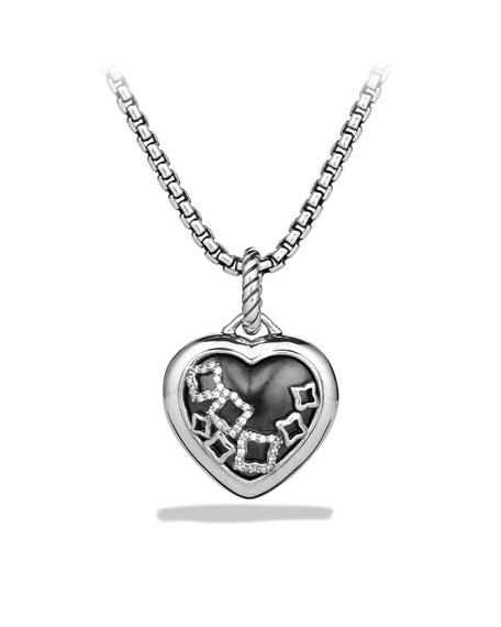 Quatrefoil Heart Locket with Diamonds