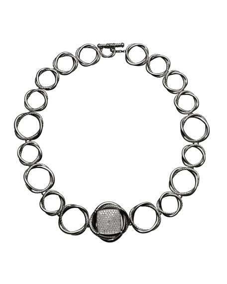 20mm Pave Diamond Infinity Necklace