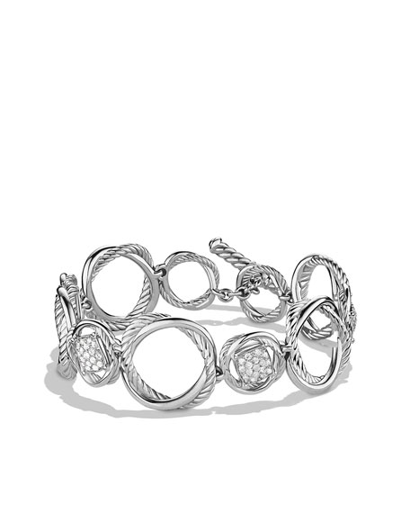 Infinity Link Bracelet with Diamonds
