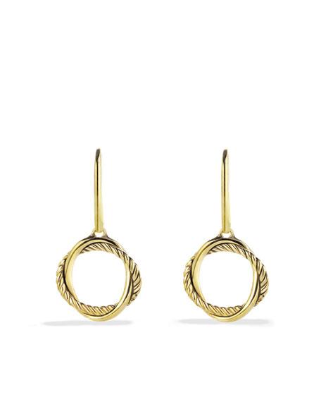 Infinity Drop Earrings in Gold
