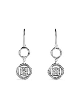 David Yurman Infinity Drop Earrings with Diamonds