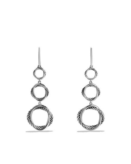 Infinity Triple-Drop Earrings