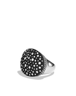 David Yurman Midnight Mélange Large Oval Ring with Diamonds