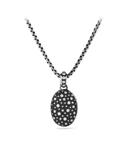 David Yurman Midnight Mélange Oval Pendant with Diamonds