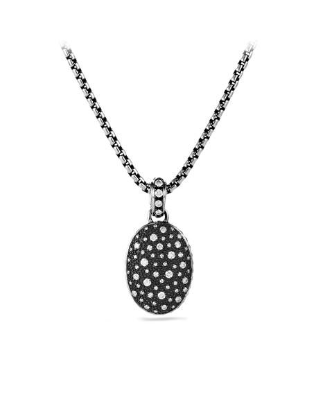 Midnight Mélange Oval Pendant with Diamonds