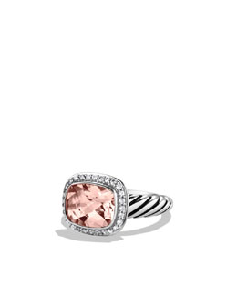 David Yurman Noblesse Ring with Morganite and Diamonds