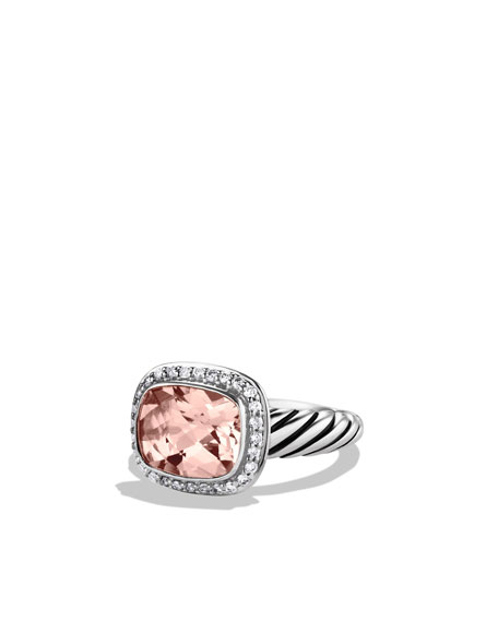 Noblesse Ring with Morganite and Diamonds