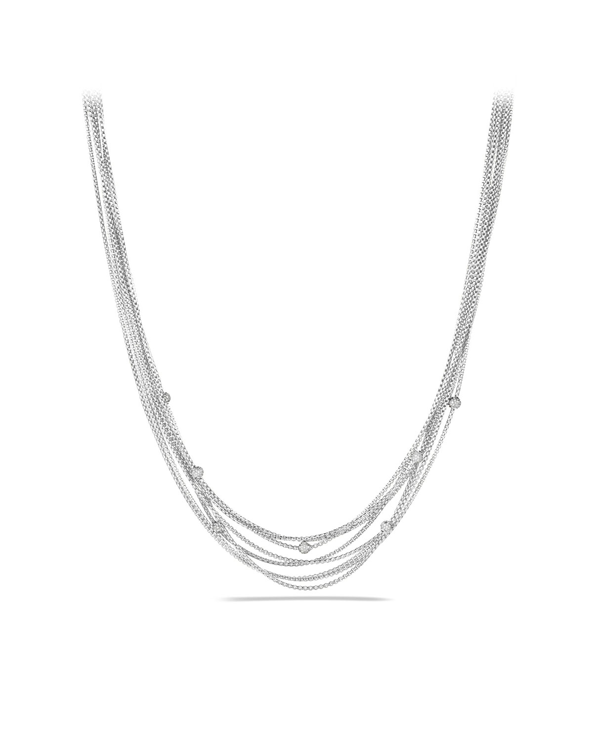 Eight-Row Chain Necklace with Diamond Beads
