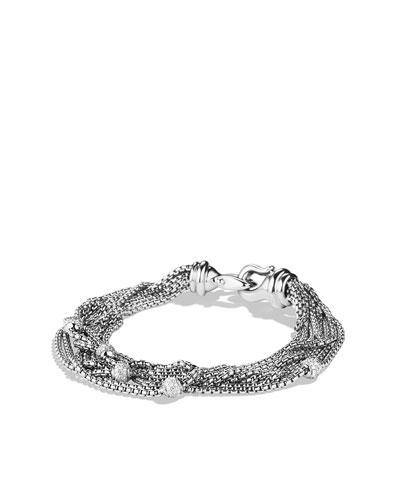 Eight-Row Chain Bracelet with Diamonds