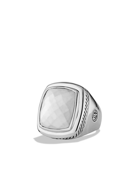 Albion Ring with White Agate