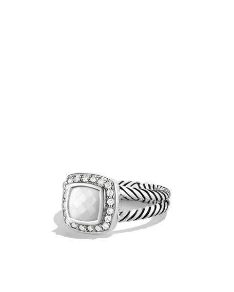 david yurman albion ring with white agate and diamonds