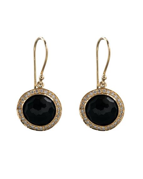 Mini Lollipop Earrings, Onyx