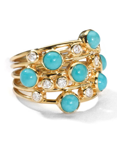 Turquoise & Diamond Constellation Ring