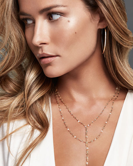 Lana Jewelry Small Flat Blake Hoop Earrings elCAiJhg