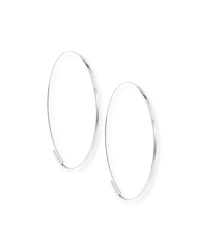 Lana Flat Magic Hoops. White Gold