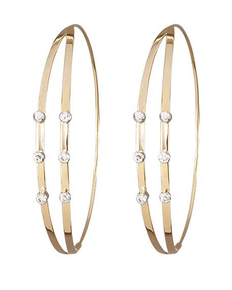 Diamond Flirt Hoop Earrings