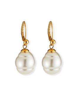 MAJORICA JEWELRY LTD 12mm Baroque Pearl Drop Earrings