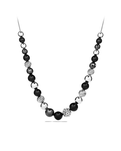 David Yurman DY Elements Necklace with Black Onyx and Hematine
