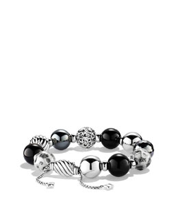 David Yurman Elements Bracelet with Black Onyx and Hematine