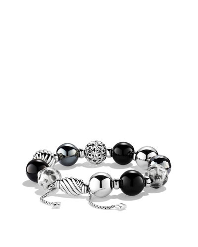 David Yurman Elements Bracelet with Black Onyx and Hematine