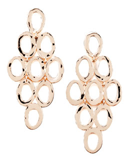 Ippolita Rose Gold Open Cascade Post Earrings