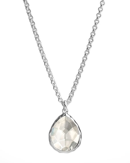 Quartz Teardrop Necklace