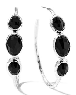 Ippolita Onyx Hoop Earrings, Medium