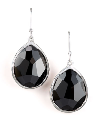 Ippolita Small Teardrop Earrings, Black Onyx